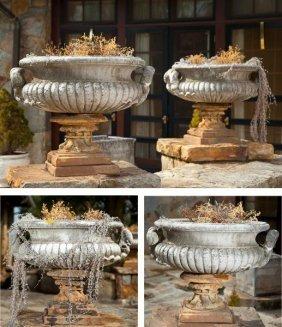 Set Of Four Regency Style Cast Stone Urns