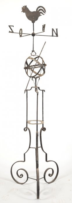 Wrought Iron Painted Weather Vane