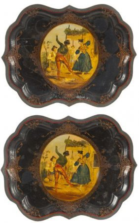 Pair Of William IV Tole Trays