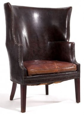 George III Barrel Back Wing Chair