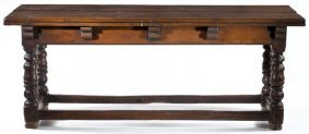 Dutch Refectory Folding Top Table