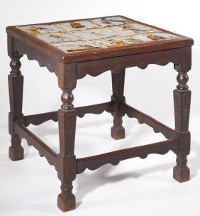 Dutch Tile Side Table
