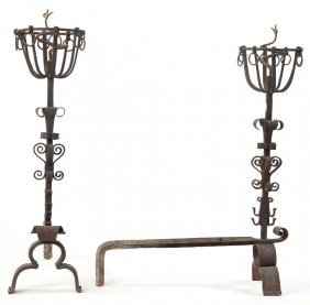 Pair Of Victorian Andirons