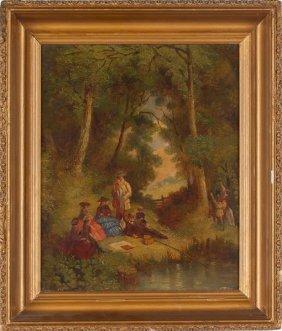 Baltimore School Genre Painting, 19th Century