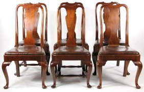 Set Of Six Pug Moore Queen Anne Style Dining Chair