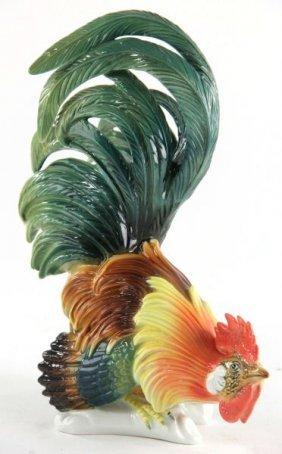 Karl Ens Porcelain Rooster
