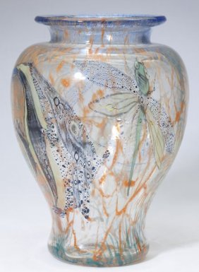 Cased Glass Baluster Vase