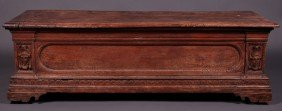 Italian 17th Or 18th Century Carved Cassone Chest