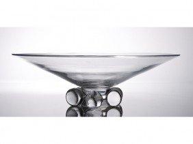 "Steuben Crystal Art Glass 12"" Low Ball Bowl"