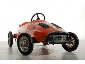 Ferrari Giordani Pressed Steel Toy 1950s Pedal Car