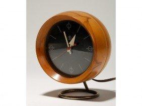 Howard Miller Mid Century Nelson Birch Clock