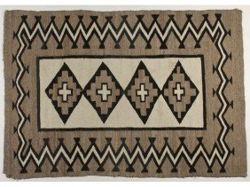 Old Native American Indian Regional Navajo Rug 5x4'