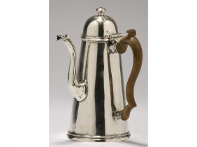Georgian 18C Sterling Lighthouse London Coffee Pot