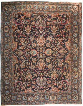 "Old Persian Malayer Oriental Carpet 9'10"" X 8'1"""