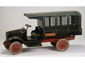 Original Buddy L Railway Express Screen Side Truck