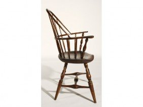 Maple 19th Century Pine Windsor Sack Back Arm Chair