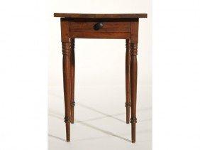 Sheraton 19th Century Cherry One Drawer Stand
