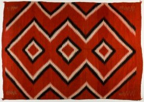 Old Navajo Native American Indian Eye Dazzler Rug