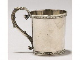 American Coin Silver 1840 Childs Towle Myers Cup