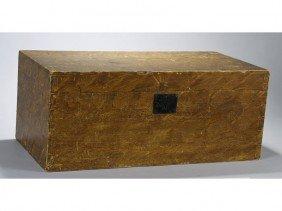 New England 19C Vinegar Decorated Storage Box