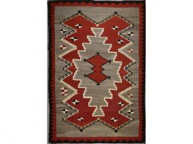 Old 1930s Navajo Native American Indian Rug  6 X 4