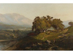 Frederick Dickenson Williams Landscape Painting