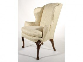 Queen Anne 18C Carved Mahogany New England Chair