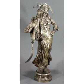 M.J. Antonin Mercie Woman W Swords Bronze Sculpture