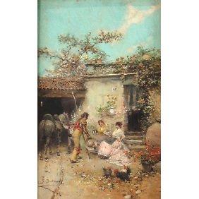 Jose Benlliure Y Gil Matador W Ladies Oil Painting