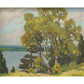 A.W. Campbell - Canadian Lake Simcoe 1923 Painting