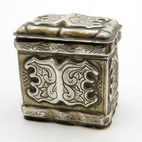 19th Century Dutch Silver Lodereindoosje