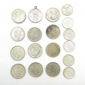 Lot Of 12 Silver Quarters And Dimes