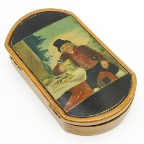 19th Century Wood Tobacco Box