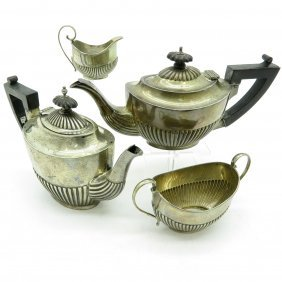 English Silver 4 Piece Coffee And Tea Service