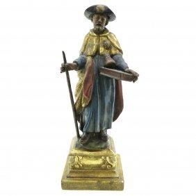 19th Century Wood Sculpture Of Jacob