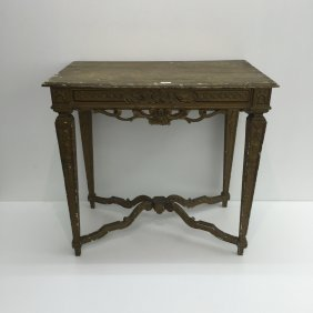 18th Century Painted Gold Guild Table