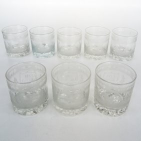 19th Century Engraved Shot Glasses