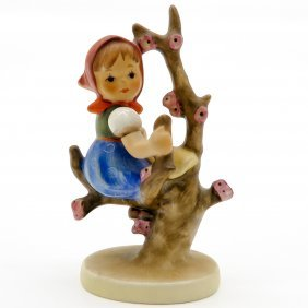 Hummel Figurine Of Girl In Apple Tree