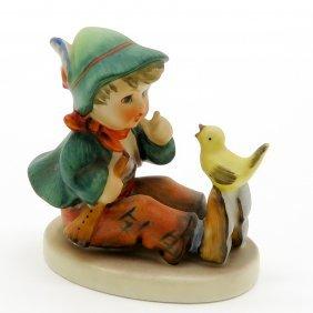 Hummel Figurine Of Boy With Bird