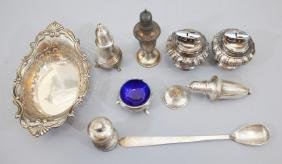 Group Of Sterling Silver Items & Silver Ronsons
