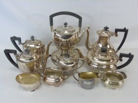Large English Silver Plate Coffee / Tea Service