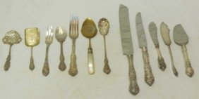 Lot Of Silver & Silver Plate Serving Utensils