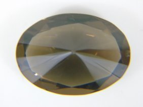 Large Oval Cut Smoky Tone Tourmaline