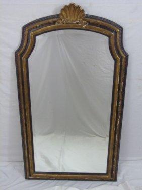 Antique Italian Baroque Style Wood & Gilt Mirror