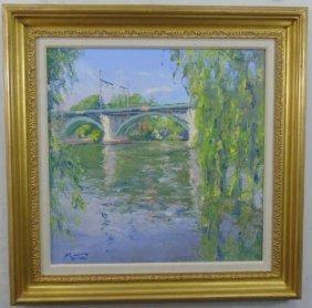 Pierre Bittar Impressionist Landscape Oil Painting