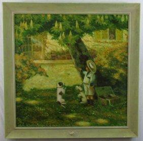 Antonio Saliola (b 1939) Oil Painting On Canvas