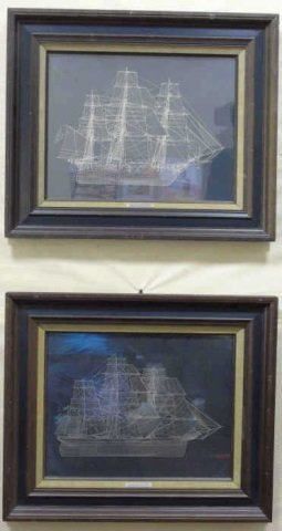 Two Laser Cut Steel Ship Silhouettes Cutty Sark