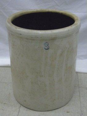 Large Antique American Stoneware Crock