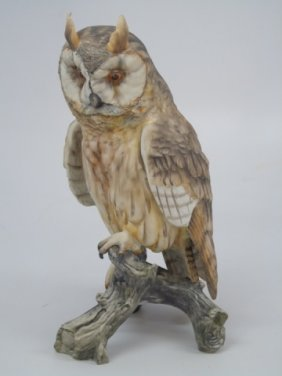 Kaiser Painted Porcelain Bisque Owl
