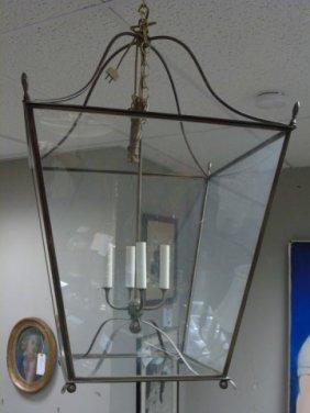 Large Contemporary Modern Lantern Light Fixture